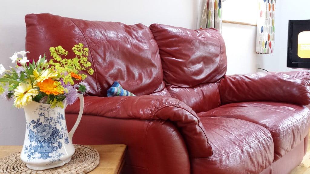 Comfy red sofa