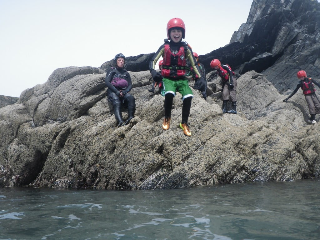 Fun coasteering today