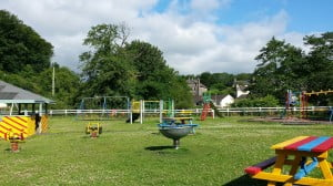 Meidrim Playground near Old Oak Barn is great fun for children