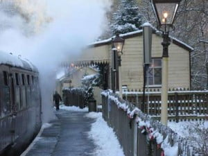Sometimes it snowa at Christmas at Gwili Railway