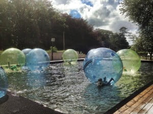 Zorbing new at Heatherton in 2015