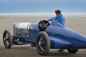 Wales Escapes - Babs Car in Pendine